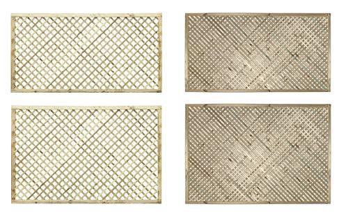 PGS Elite Diamond Trellis in 2 sizes & 2 styles garden lattice Urban Trellis contemporary Garden Fence (183cm wide x 120cm tall, 40mm standard hole size)