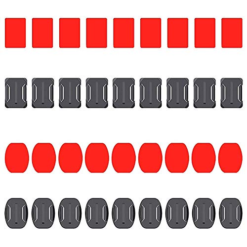 Tuneway Flat Curved Adhesive Mounts Sticker Mount for Hero 8 Black 7 6 5 4K Mijia Action Camera Accessories