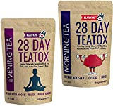 Kayos 28 Day Teatox with Morning Energy Boost and Evening Metabolism Booster Combo for Weight Loss -...