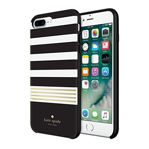Kate Spade New York KSIPH-056-STBWG - Custodia rigida per Apple iPhone 7 Plus/8 Plus, colore: Nero/Bianco/Oro [Lucido]