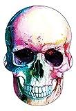 Retro-Aufkleber, reflektierend, für Motorradhelm mit Totenkopf