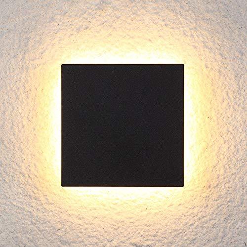 MJZHJD Comer Caliente de Estar Sala de Estudio Balcón de Aluminio de acrílico Amarillo Claro después de la Moderna geometría Simple minimalismo Luz de Pared