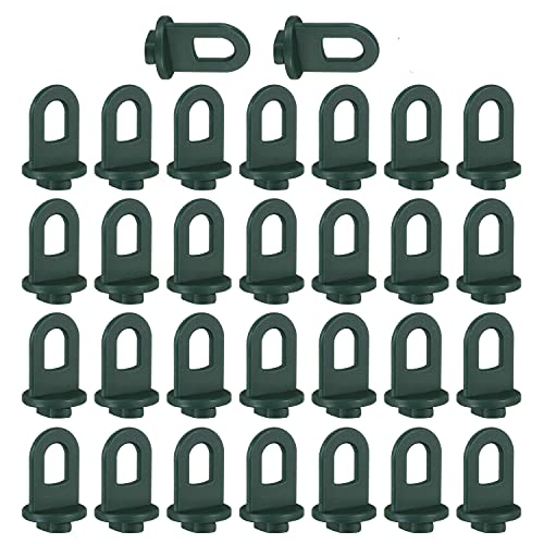 KWOKWEI Gewächshausclips, 30 Stück Pflanzenhalter Aufhängevorrichtungen Verstärkte Gewächshaus Zubehör 30KG Kapazität, Kunststoff Ösen Rankhilfe Clips für Gewächshaus Pflanze Vorhang Grün