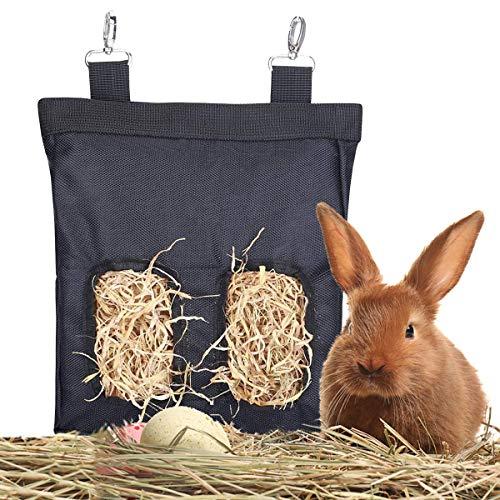 BoloShine Bolsa de Heno de Conejo, Alimentador de Heno de Indias, Colgante Saco de Heno para Mascotas Adecuado para Conejos Cobayas Chinchillas Animales Pequeños