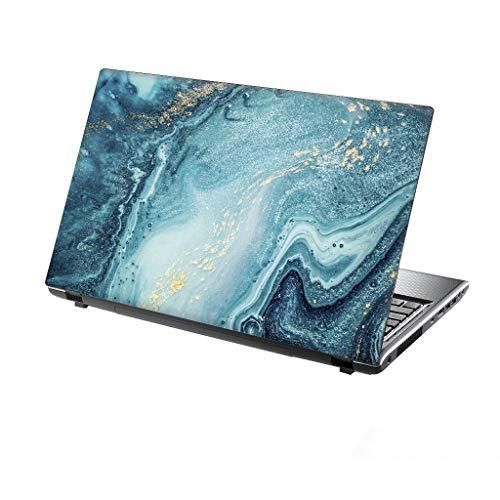 TaylorHe Folie Sticker Skin Vinyl Aufkleber mit bunten Mustern für 13-14 Zoll (34cm x 23,5cm) Laptop Skin Fließendes Wasser, blau