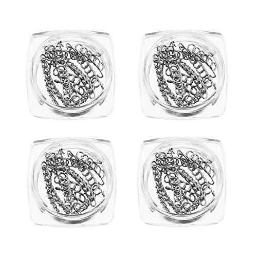 Anself 12 piezas/caja de corrector de uñas encarnadas para pies, 6 tamaños, corrector de dedos encarnados, herramienta de cuidado de pies, 4 cajas