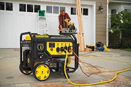 Champion Power Equipment 100891 9375/7500-Watt Dual Fuel Portable Generator, Electric Start