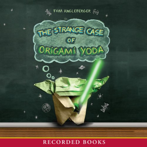 The Strange Case of Origami Yoda audiobook cover art