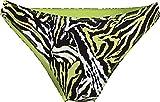 Calvin Klein Modern Bikini-Print Bragas, Enredado Tiger Direct Verde, XL para Mujer
