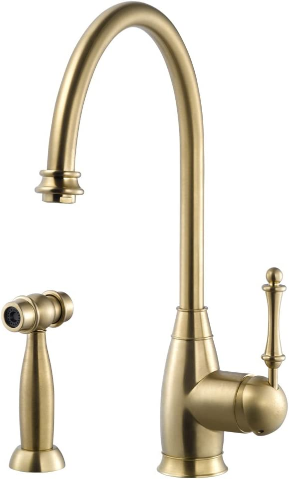 Houzer CHASS-682-BB Charlotte Traditional Kitchen Max 76% OFF Brushe Faucet Popular