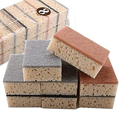 Huayoung Pack of 8 Eco Kitchen / Household / Dish Sponges 10cm6.8cm3.5cm Cleaning Sponges Useful Cleaning Tools