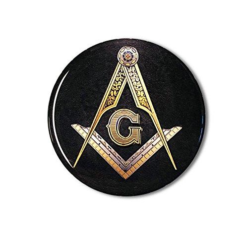 Proud Store Online Mason Masonic Freemason Domed Decal car Emblem 3D Sticker 2.5' Square & Compass