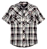 Harley-Davidson Men's Performance Vented Plaid Woven Shirt 96548-19VM (L) White