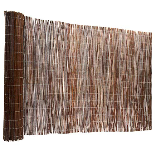 Floordirekt Weidenzaun | 5 Größen | Weidematte | Weidenmatte | Sichtschutz | Dekorative Zäune (200x300 cm)