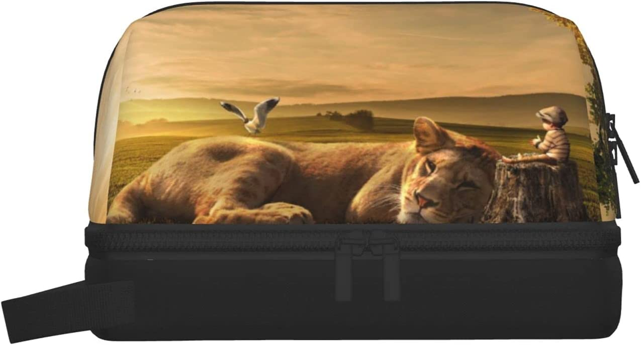 Lion Portable Wash Bag Max 79% OFF For Storage OFFicial Women Lar Travel Cosmetic