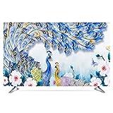 catch-L TV Panno Copertura TV Copertura Antipolvere Asciugamano for Cover Display (Color : Blue, Size : 40inch)