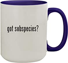got subspecies? - 15oz Ceramic Inner & Handle Colored Coffee Mug, Deep Purple