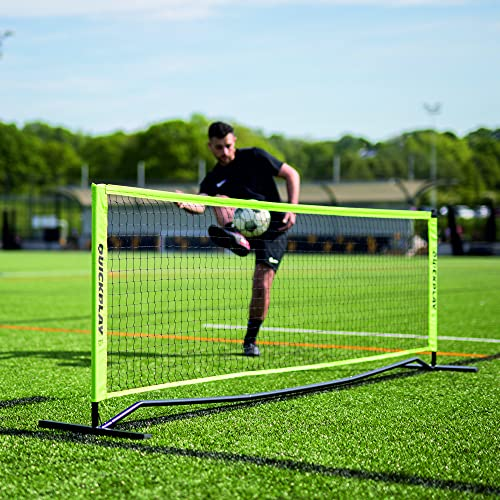 QUICKPLAY Rally Portable Soccer Tennis Net | Adjustable Height Sports Net with Integrated Weighted Base
