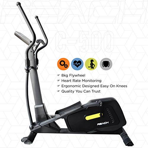 Reach Elliptical Cross Trainer Machine for Cardio Fitness Strength Workout at Home (Multicolor)