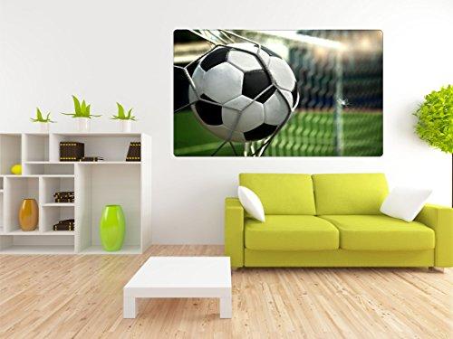 DesFoli Fussball Tor 3D Look Wandtattoo 70 x 115 cm Wanddurchbruch Wandbild Sticker Aufkleber R412
