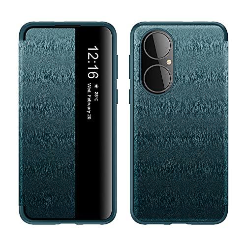 HiChili Funda para Huawei P50 Smart View Flip Cover Libreto [Auto Sleep...
