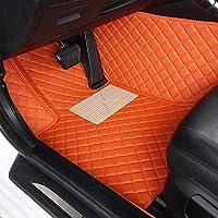 Super1Six Alfombrillas De Cuero Personalizadas para El Coche, para Chrysler 300C Grand Voyager Sebring PT All Season Impermeable Antideslizante,Naranja,Wheel Right