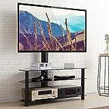RFIVER Meuble TV avec Support Pivotant Hauteur Réglable pour TVs et Ecrans LCD LED...