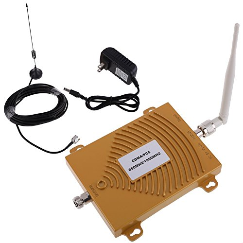 Mobile phone signal booster CDMA/PCS 850 / 1900MHz 2G / 3G / 4G Band5/Band2 dual frequency mobile phone signal amplifier mobile phone signal repeater signal waver kit FDD-LTE Repeater