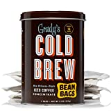Grady's Cold Brew Coffee, 1 Storage Can with 4 Bean Bags, Regular, Black