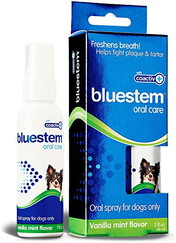Dog Oral Spray Breath Freshener: Pet Dental Teeth & Mouth Cleaning Spray That Treats All Dogs Bad Breath Smell When Breathing. Tooth Tartar + Plaque Cleaner Remedy. Small Mint Flavor Remover for Pets