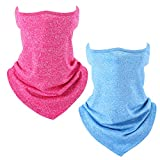 TAGVO Bandana Gesichtsmaske, 2 Pack Elastic Sport Ourdoor Balaclava Halstuch Tube Multifunktionale...