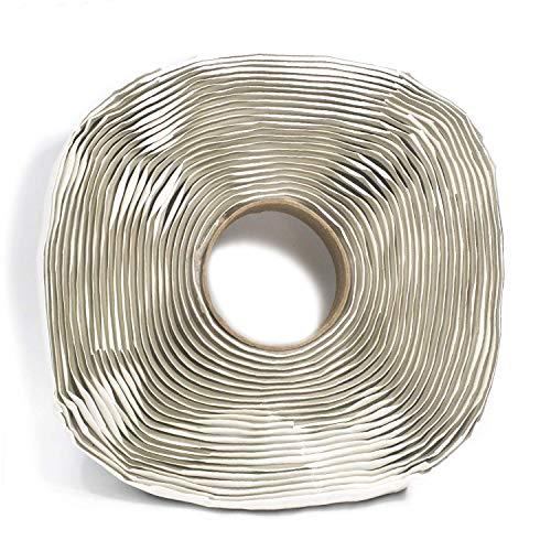 Harbre - Nastro sigillante in gomma butilica extra lungo, 3 mm x 25 mm x 12 m, colore: grigio