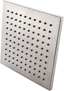 KES ALL METAL 8-Inch Shower Head Fixed Mount Rainfall Style Stainless Steel Square Brushed Nickel, J213S8-2