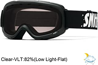 Smith Optics Gambler Junior Series Winter Sport Snowmobile Goggles Eyewear - Black/Clear/One Size