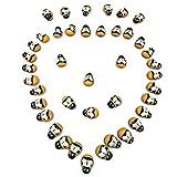 Flower205-100 mini abejas de madera autoadhesivas de 9 x 12 mm, botones de madera para manualidades, decoración de madera para manualidades, álbumes de recortes, bricolaje