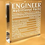 Engineer Nutritional Facts Gifts   For Men   Women   Desk   Office   Birthday   Christmas   Keepsake   Paperweight