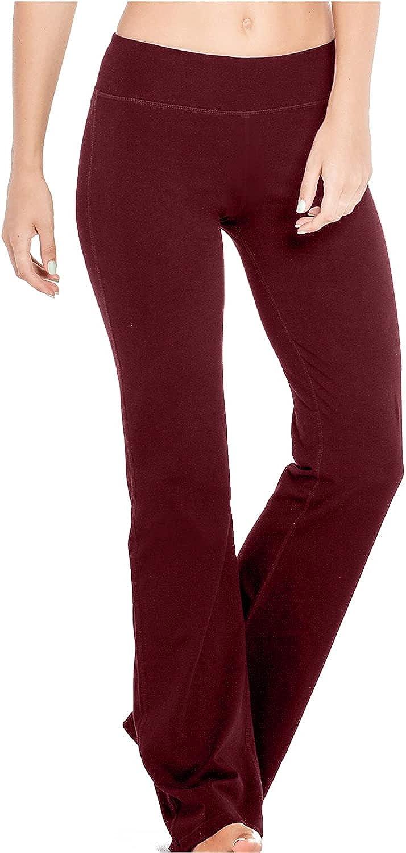 Houmous S-XXXL 29''31''33''35'' Inseam Pa Soldering Bootcut Women's Cotton 4 years warranty
