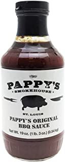 Pappy's Smokehouse Original BBQ Sauce, 19 Ounce, Memphis Style Barbecue From The Best St. Louis BBQ Restaurant