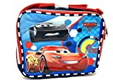 2017 Disney Pixar Cars 3 Canvas Blue & Red Insulated Lunch Bag Multiple Signs
