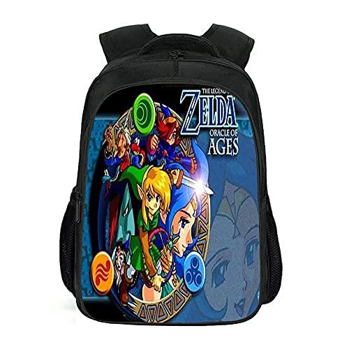 The Legend of Zelda Mochilas escolares Bolsas de almuerzo Estudiante Bolsa para portátil para niños y niñas, 12, Zelda,