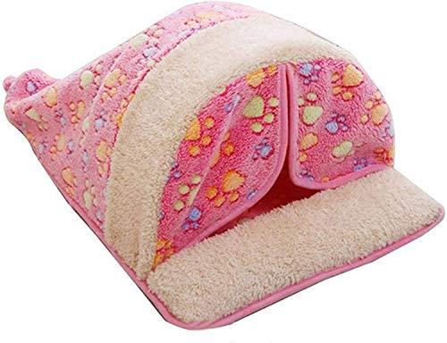 Getrichar Tienda de Mascotas, Trasar Softable Soft Soft Sleeping Being Fleece Casa Casa Pequeño Nido Kennel Pet Supply Dog Cat Mascota Nest (Color: B, Tamaño: Medio) (Color : B, Size : Medium)