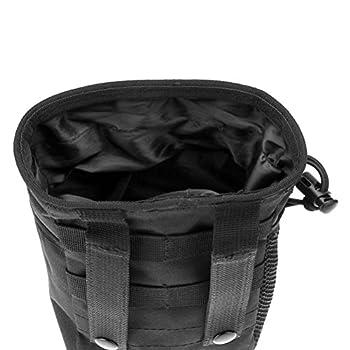 Tinksky Tactical Gear Faisceaux Molle Magazine Dump Pouch Militaire Réglables Ceinture Utilitaire Hip Holster sac Extérieur Pochette Sac (Noir)