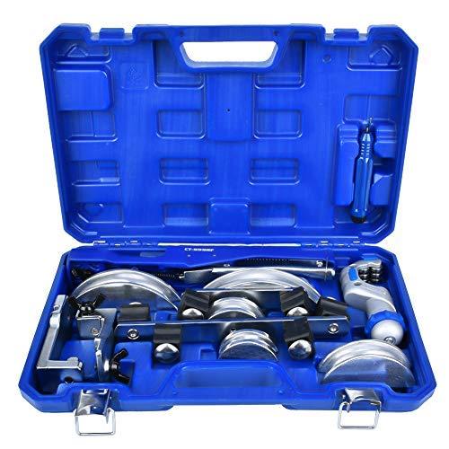 Dobladora de tubos manual, diámetro de tubo 6-22 mm/3/8'1/2' 5/8'3/4' 7/8'Dobladora de tubo, codo máximo 90 grados Dobladora de aleación de aluminio para baño Calefacción Aire acondicionado