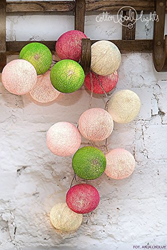 Cotton Ball Lights Lichtketting Textiel Ball slinger Lampions Spring 20 ballen