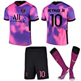 ACJIA P-S-G Gioventù 2020/21 Quarta Kit Jersey Footbal - Pink/Purple Unisex Football Football Rugby...
