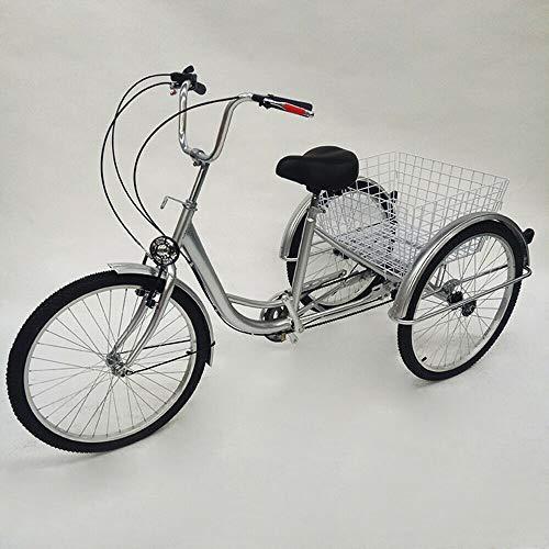 24' Triciclo Mayor de la Ciudad Bicicleta para Adultos Mayores Triciclo de la Altura...