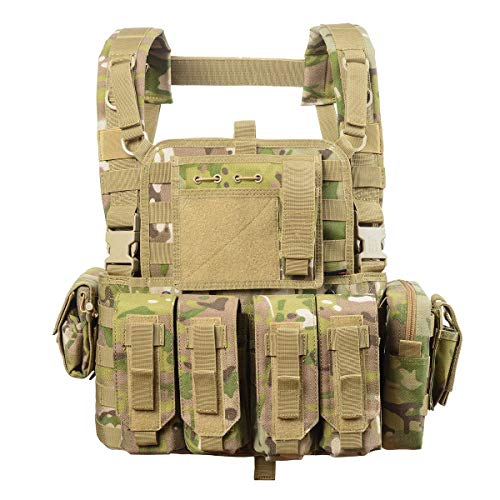 Tactical Vest Military Chest Rig Airsoft Swat Vest for Men(Camouflage)