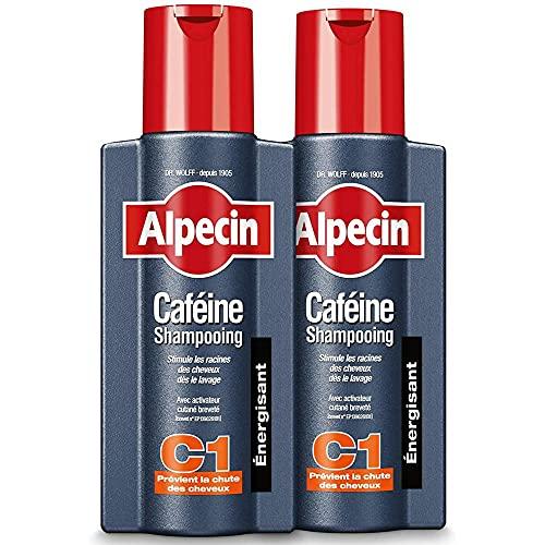 Alpecin Caféine Shampooing C1 2x 250ml | Shampoing anti chute de cheveux homme | Cheveux traitement calvitie | Alpecin caféine shampoing perte de cheveux homme