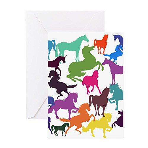 Tarjeta de felicitación divertida de caballos del arco iris, tarjeta de cumpleaños, tarjeta del día de la madre, tarjeta del día del padre, para mamá, papá, Navidad, aniversario