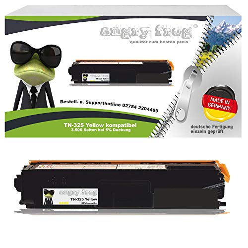 Yellow Toner Made in Germany ersetzt Brother TN325 Y - für Brother DCP 9055 CDN, DCP 9270 CDN, HL 4140 CN, HL 4150 CDN, HL 4570 CDW, HL 4570 CDWT, MFC 9460 CDN, MFC 9465 CDN, Brother MFC 9970 CDW